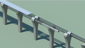 panneaux solaires hyperloop