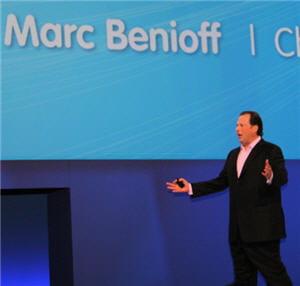 marc benioff, lors de dreamforce, le grand rendez-vous de salesforce qui se