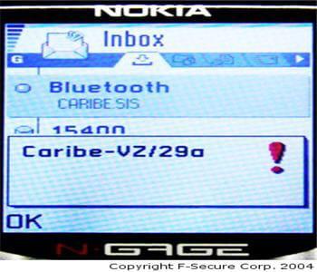 cabir cible uniquement les téléphones mobiles sous système d'exploitation