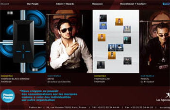 visuel extrait du site de l'agence publicis net.