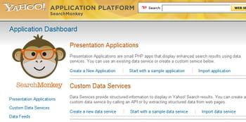 accueil du site yahoo searchmonkey