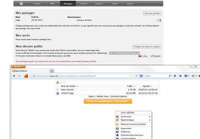 bajoo met surtout l'accent sur le partage de fichiers dans le cloud