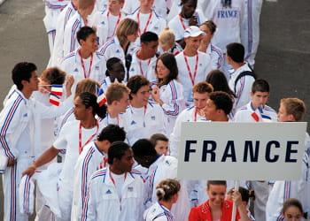 l'équipe de france au festival olympique de la jeunesse européenne à belgrade.