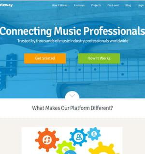 la plateforme music gateway est dédiée aux professionnels du secteur.