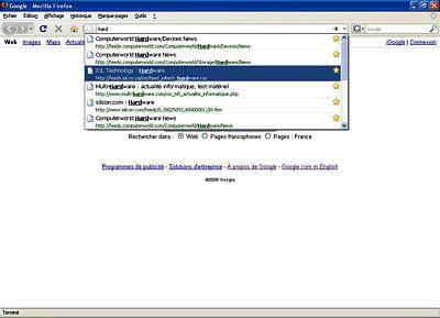 a l'image d'un moteur de recherche, la barre d'adresse va vous servir à