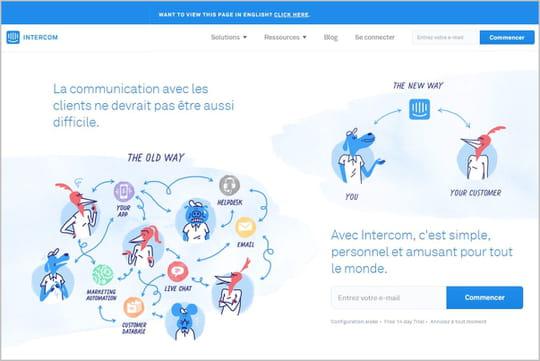 Intercom: l'app de gestion de la communication client qui explose