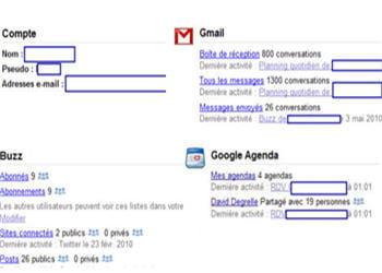 une page d'un compte google dashboard bien rempli