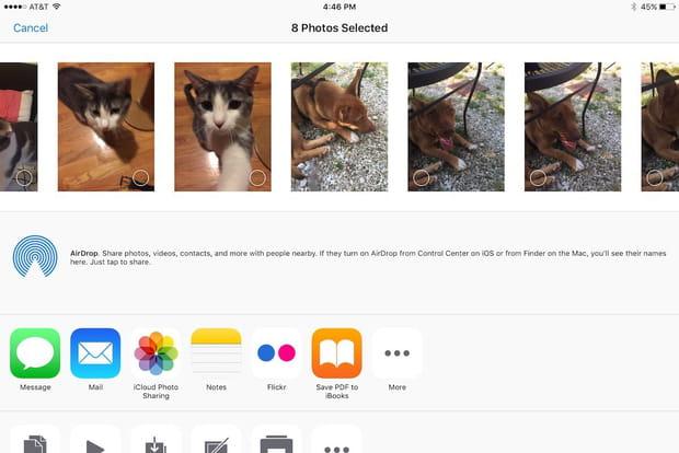 Envoyer plus de 5 photos par email