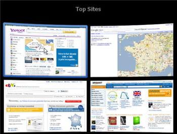 la fonctionnalité top sites donne un coup de vieux à la navigation par onglets.