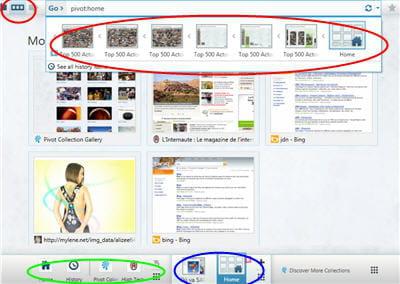 la page des vignettes des sites les plus visités ou ceux que l'on y épingle.