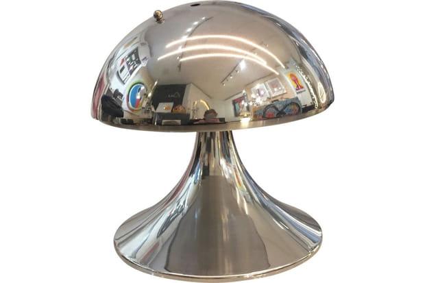 Lampe champignon en inox années 70, à partir de 370euros