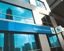 la banque standard chartered à shangaï.