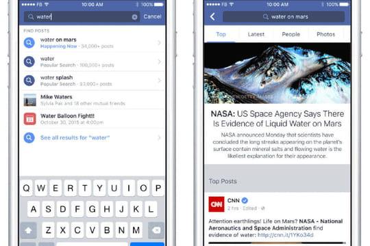Facebook attaque frontalement Google en modifiant son moteur de recherche interne