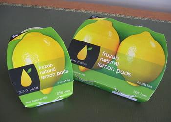 citron surgelé en quartiers bits o' juice.
