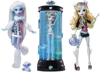 les poupées monster high.