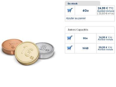 les clés usb pièces de monnaie.