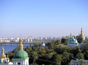une vue de kiev.