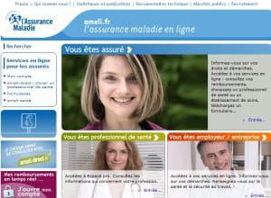 page d'accueil de ameli.fr, le portail de l'assurance maladie