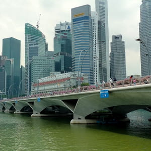 le quartier des affaires de singapour.