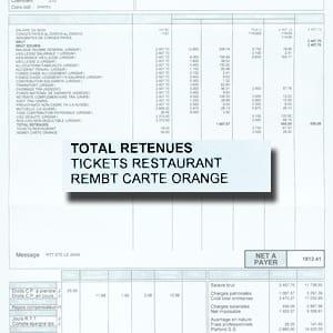 le remboursement de titres restaurant et de transport ne subit pas de