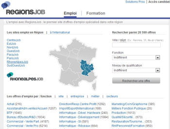 regionsjob.com arrive en seconde position avec plus de 1,4 million de visiteurs