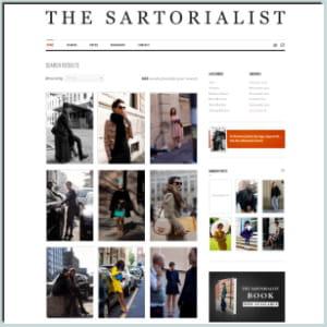 les blogs de mode de rue comme face hunter ou the sartorialist (ci-dessus)
