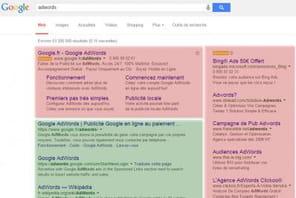 Etude SEO : les taux de clic selon l'affichage de publicités AdWords