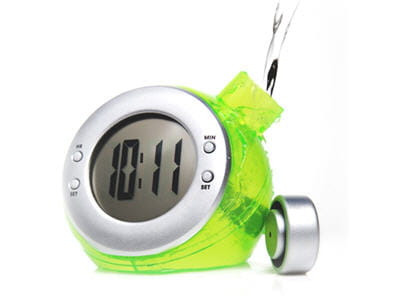 horloge fonctionnant à l'eau