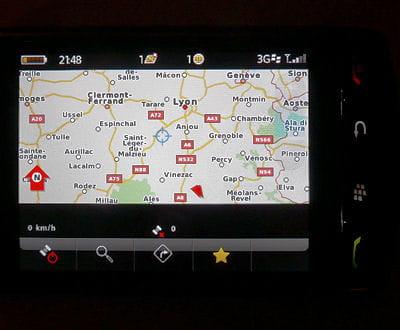 le gps, intégré au blackberry storm.