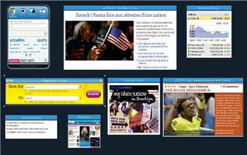 capture d'écran de la page d'accueil de wozaik