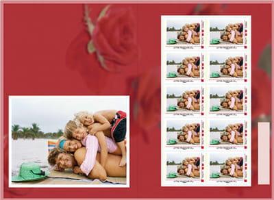 planche de timbres personnalisés