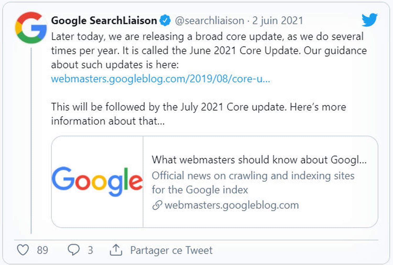 Google June & July core update: ce que l'on sait