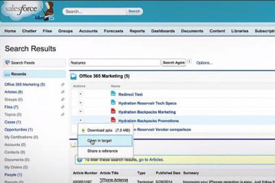 """Salesforce lance Files Connect,  pour un """"partage universel"""" des fichiers"""