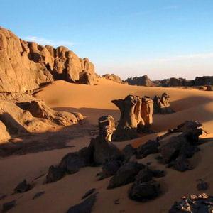 le désert du hoggar en algérie.