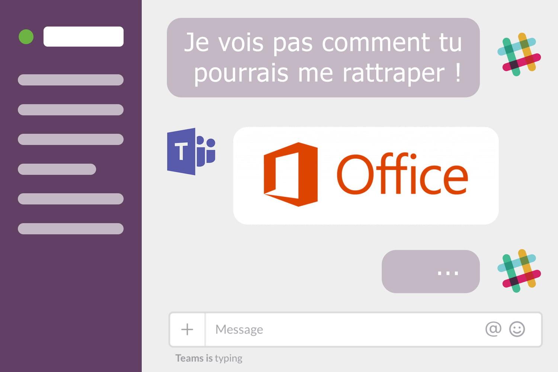 Comment Microsoft Teams a gagné la bataille contre Slack en France