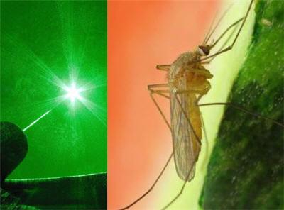 un canon laser à moustique pour éradiquer le paludisme