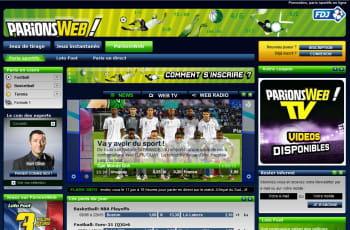 parionsweb, le site de paris sportifs de la française des jeux