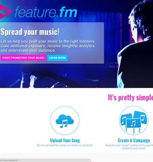 feature.fm aide les artistes à se promouvoir.