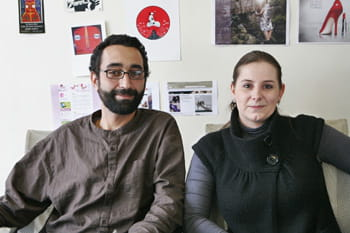morad adjaoud, directeur de production, et laetitia morlet, responsable de