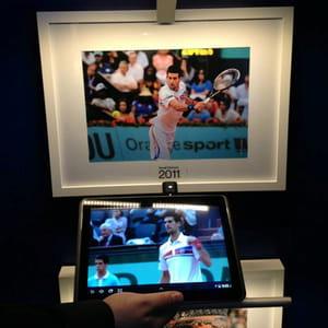 oldecomm a présenté sa technologie à roland garros : en passant sa tablette sous