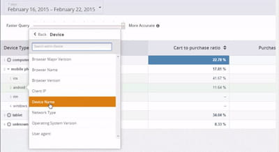 cart to purchase selon device name