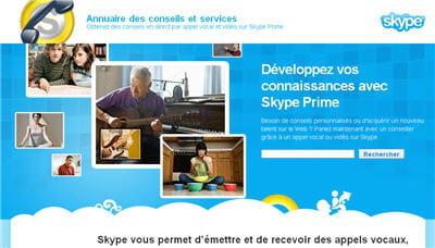 la recherche de contacts sur skype prime