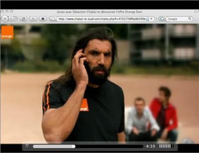 capture d'écran de la campagne réalisée par buzzman pour orange.