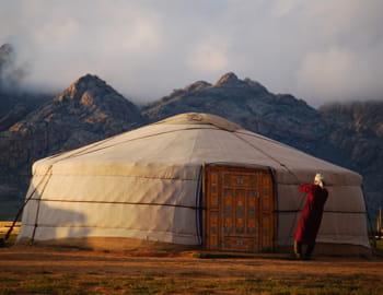 une yourte en mongolie.