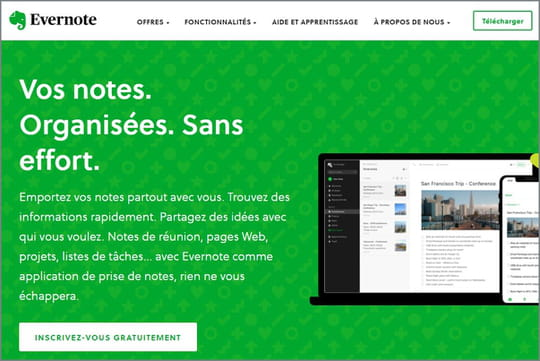 Evernote : l'application star de la prise de notes