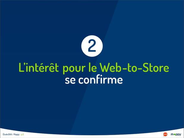 L'intérêt pour le Web-to-Store se confirme