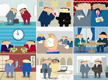 les coutumes du monde des affaires varient selon les pays.