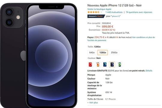 iPhone 12: des prix en forte promotion chez Amazon