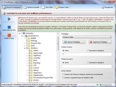 copie d'écran du logiciel proposée par le site de l'éditeur, sbl.