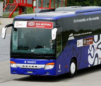 le bus de l'équipe de france pour l'euro 2008.